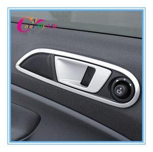 Image 2 - Colore La Mia Vita Abs Chrome Interno Trim Porta A Mano Stringendo La Mano Anello Decorativo Sticker per Ford Ecosport Fiesta MK7 Accessori Auto