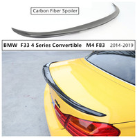High Quality Carbon Fiber Spoiler For BMW F33 4 Series Convertible M4 F83 420 425 428 430 435 2014 2019 Rear Wing Spoilers