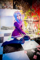 Cosplay Anime Wig No Game No Life Nogemu Noraifu Shiro With One Ponytails 120cm