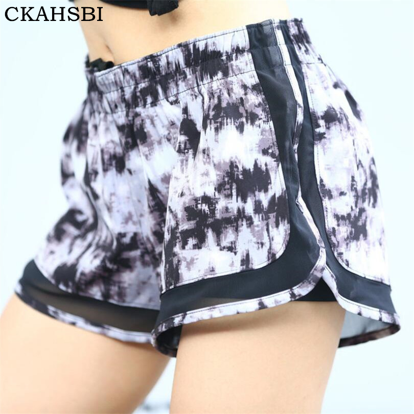 CKAHSBI Gym Double Layer Running Shorts Women Fitness Outdoor Sport Shorts 2In 1 Ladies Shorts Feminina Athletic Joggings Shorts ...