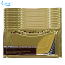 Gold Bio-Collagen Neck Mask Crystal Gold Powder Whitening Anti-Aging Neck Care Moisturizing Remove Neck Wrinkles Skin Care 2017