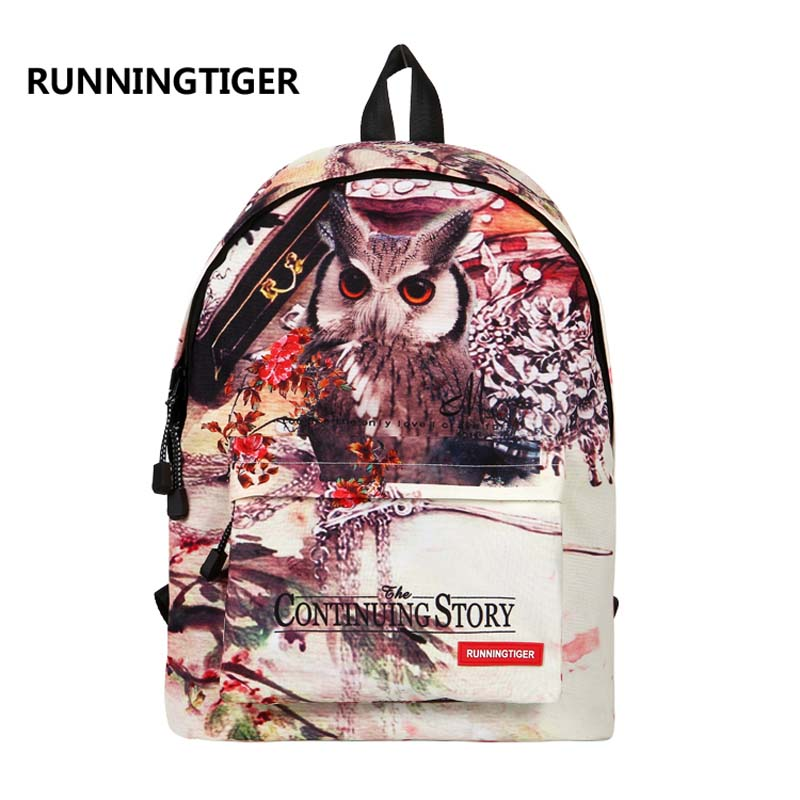 RUNNINGTIGER 3D Animal Printing Backpack Women Shoulder Bags Fashion Backpack Girls School Bags For Girls Women Travel Bags in Backpacks from Luggage Bags