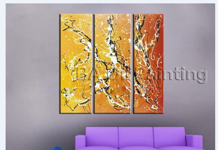 Hand painted big size modern wall art home wall pictures for bedroom ...