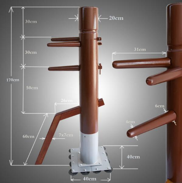 Factory Price! Patent stand column Wing Chun Wooden Dummy,one punch man kung fu training mook jong,Ip Man Chinese martial arts master recommend movement triangle frame wing chun wooden dummy donnie ye used standard kung fu wooden dummy martial arts