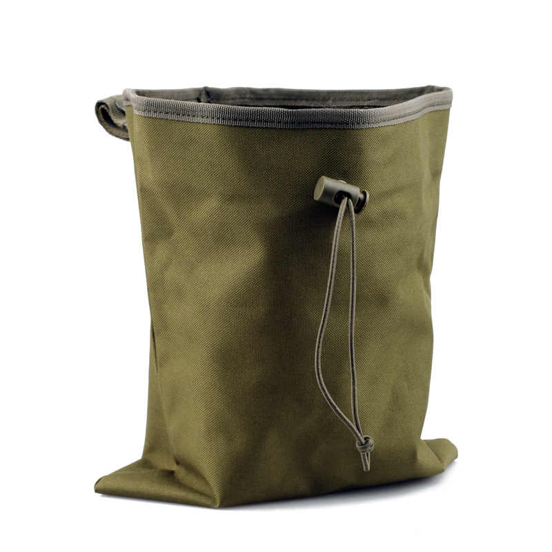 Tactical Military Molle Utility Magazine Mag Ammo Dump Drop Pouch Bag  For Airsoft Paintball