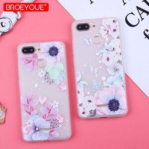 Image 1 - Case Voor Xiao mi rode Mi 6A covers FROSTED Bloem Telefoon Gevallen Voor Xiao Mi Mi 8 lite mi 9 SE Rode mi note 7 6 5 pro Rode Mi 7 6Pro 4X 5A