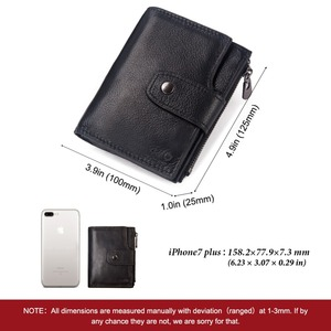 Image 3 - KAVIS rfid Smart Wallet Genuine Leather with alarm GPS Map Bluetooth Black Men Purse High Quality Design Wallets Free Engraving