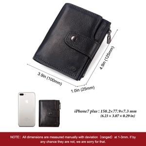 Image 3 - Kavis rfidスマート財布本革アラームgpsマップbluetooth黒人男性財布高品質デザイン財布送料彫刻