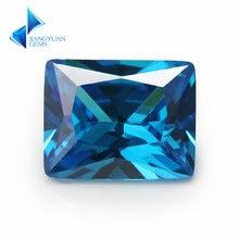 2x4~10x12mm rectangle shape 5a+ dark seablue zirconia stone