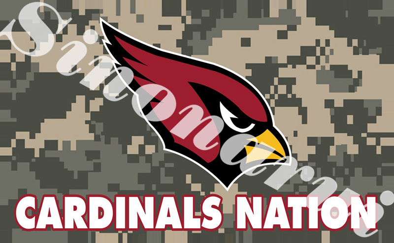 Arizona Cardinals Sports Team Camo Banners 100D Polyester 3*5FT Army Camouflage Flags