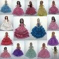 Оригинал 5 шт./лот западный стиль платье для монстр бабий куклы длинные высокого качества детские игрушки для девочек день рождения Рождественский подарок