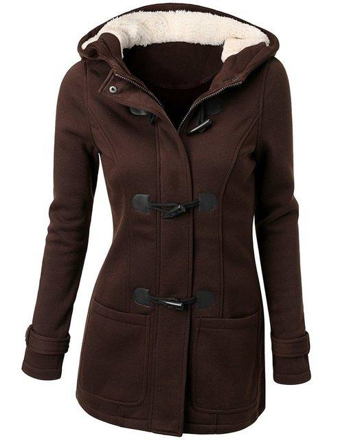 Long Hooded Women's Overcoat