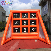 Customized 3X3.5X3 meters Inflatable soccer goal standing board funny Inflatable Football Shooting Game for kids outdoor toys