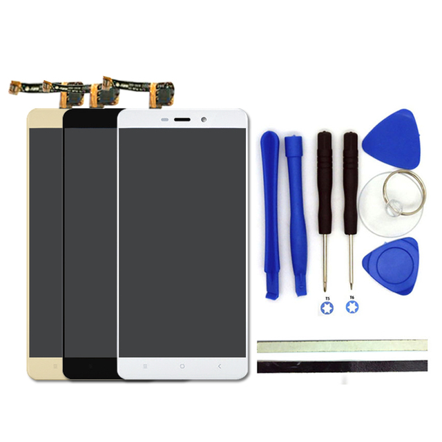 100% New 5inch For Xiaomi Redmi 4 Pro Prime LCD Display + Digitizer Touch Screen Glass Panel Replacement Phone Parts Free Tools