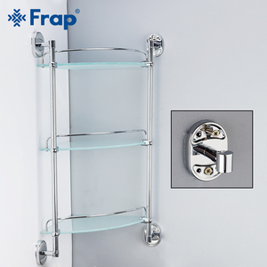 Frap полки для ванной комнаты, 3-слойные стеклянные многоцелевые полки для туалета, настенные полки для ванной, корзина для шампуня, аксессуар...