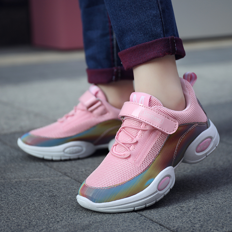 Summer Breathable Light Kids Shoes for Girl Fashion Magic Post Girls Sneakers Casual Soft Children Shoes Size 28-38Summer Breathable Light Kids Shoes for Girl Fashion Magic Post Girls Sneakers Casual Soft Children Shoes Size 28-38
