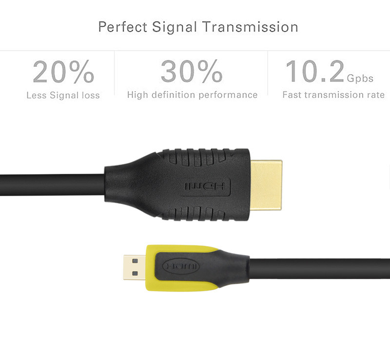 Micro HDMI to HDMI Cable Gold Plated HDMI 1 4V 1440P 3D for HDTV XBox Tablet Projector Motorola xt720 xt882 xt800 for Camera PC in HDMI Cables from Consumer Electronics