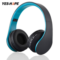 Foldable Headband Stereo 4 In1 FM TF Wired Bluetooth Wireless Headphone Handsfree Headset Mic For Smart