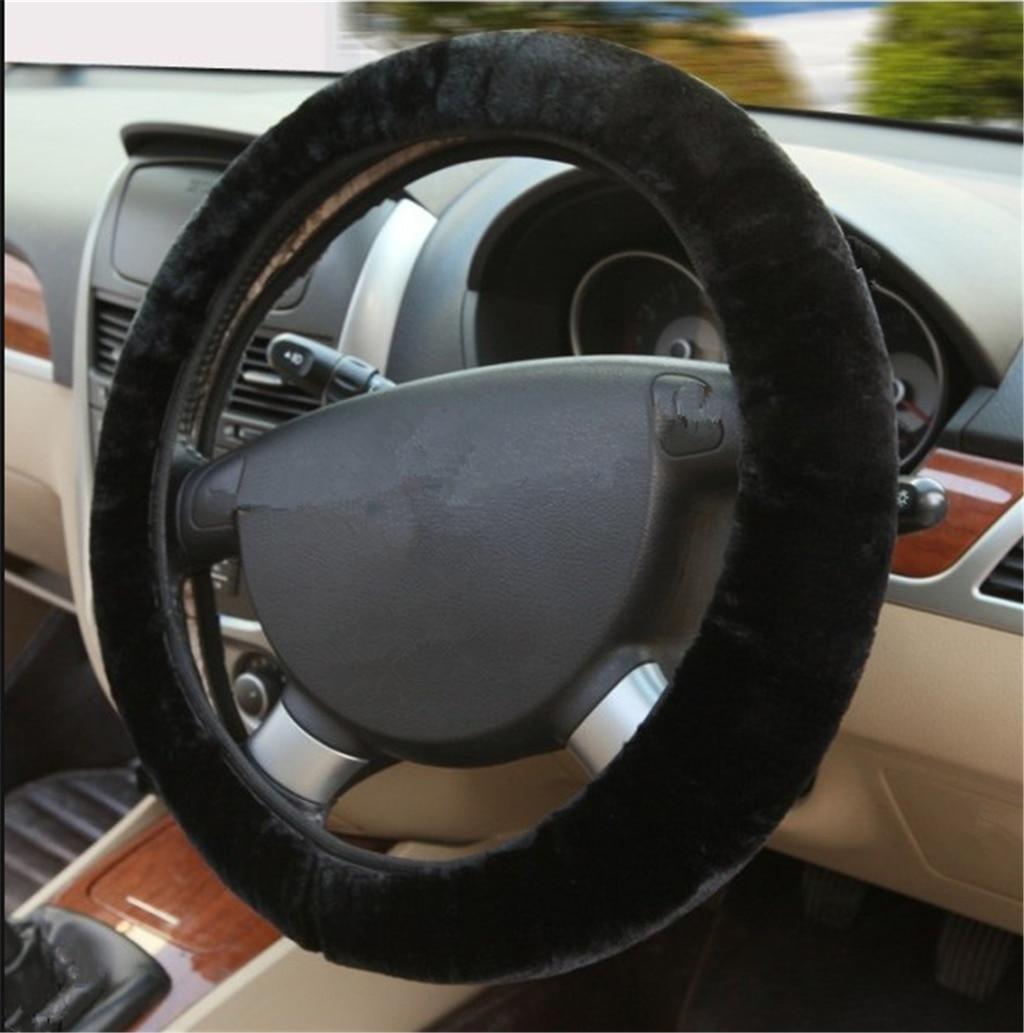 พวงมาลัยรถ Plush Super Soft Handle telescopic สำหรับ Audi I Ah Ah A8 A3 A4 A6 A5 Q7 R A3 3 ประตู
