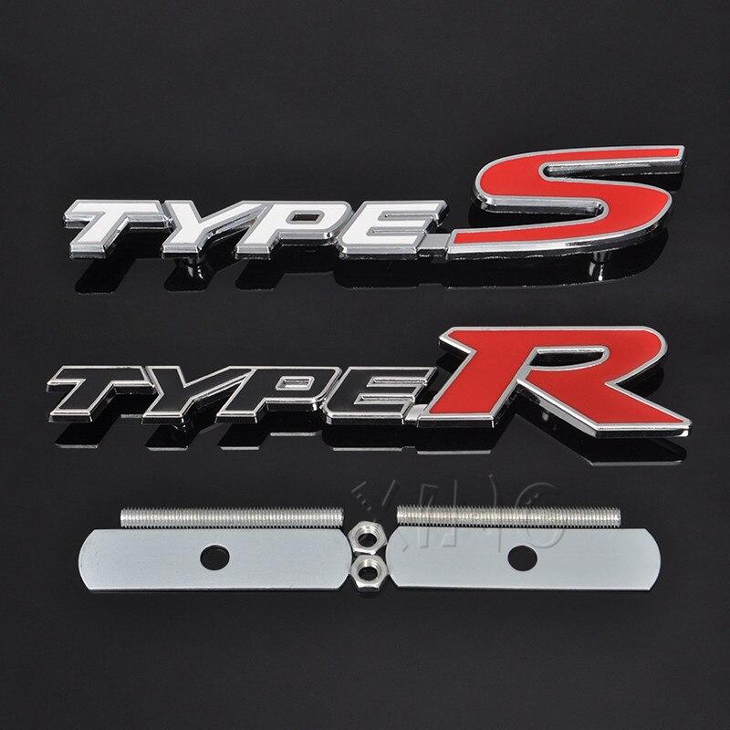 Pair R//T Small Aluminum Alloy Badge Sticker hemi Emblem 3D charger challenger #3