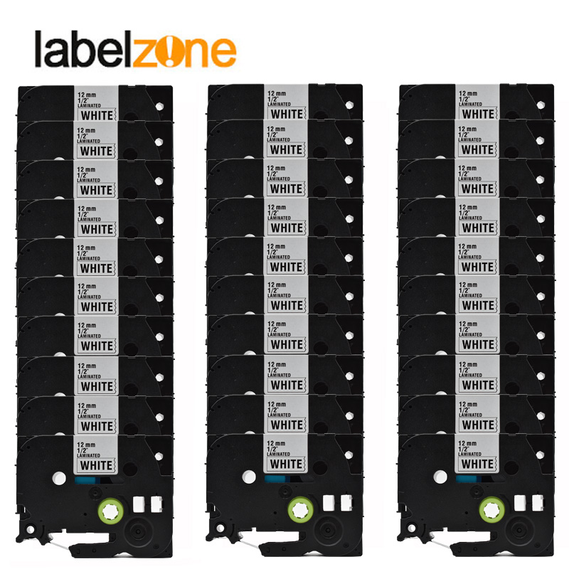 30 pacotes lote tze231 preto no branco compativel irmao p impressora de toque tze 231 tz231