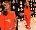 Beyonce красный ковер платья A-line одно плечо шифон оранжевый длина пола платья знаменитостей