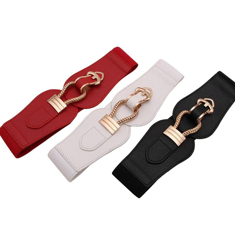 Best YBT Women's   Belt   Hook buckle patch women casual wide   Belt   fashion Elastic force garnish   Belt   Polychromatic selectable