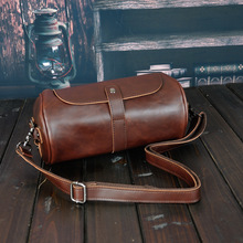 2019 New Crossbody Bags for Men Genuine Leather Messenger Fashion Male Shoulder Bag Round High Quality Clutch Handbags Zipper 2017 fashion brand men genuine leather clutch bags handbags fashion envelope bag male messenger bag high quality evening bags