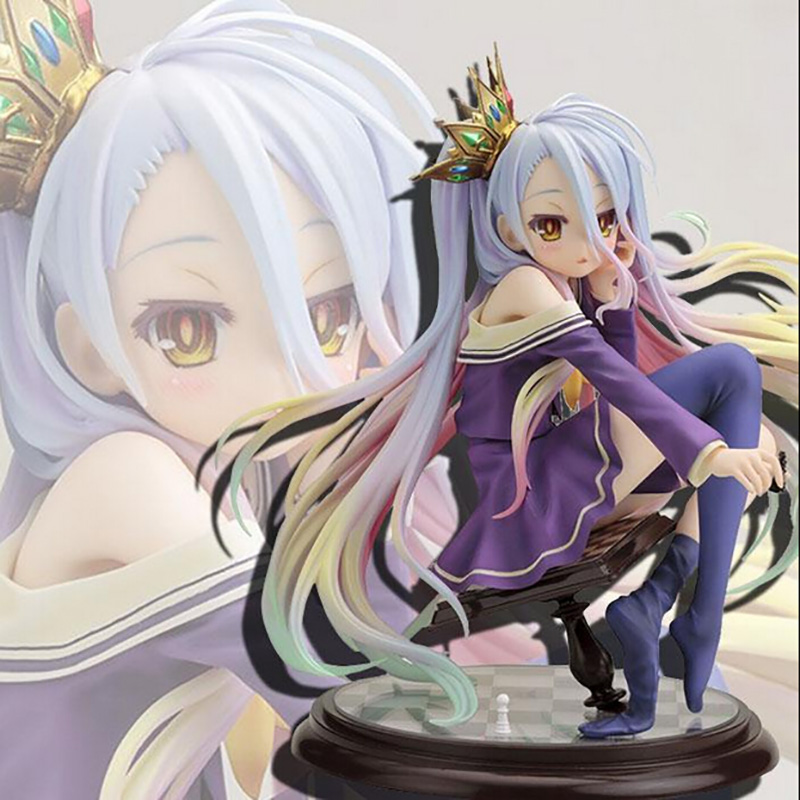 NO GAME NO LIFE Imanity Shiro 1/7 ,15.5CM PVC Figure Toys ,Cute Sex Action Figures Statue , Anime Figure Figurines Kids Toys