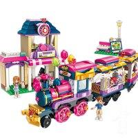 City Girls Princess Move Maersk Train Car Building Blocks Sets Bricks Model Kids Classic Compatible With Legoings Friends