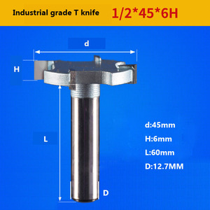 Image 3 - 1 / 2 inch 4T oder 6T holzbearbeitung router bit hartmetall T typ cutter holz carving werkzeuge holzbearbeitung werkzeuge messer