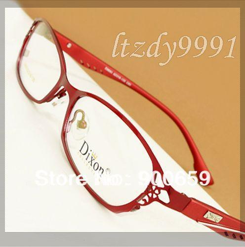 Roxo/Vermelho Full Metal aro Prescrição Óptica QUADROS DE ÓCULOS Mulheres Óculos RX Espetáculo D9693 Eyewear