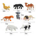 Simulation model of wild forest animals, the German shepherd, etc. 8 / set