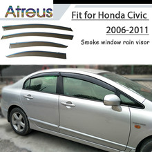 Atreus 1set ABS Rain Smoke Window Visor Car Wind Deflector For Honda Civic  2006 2007 2008 3aa316f267b