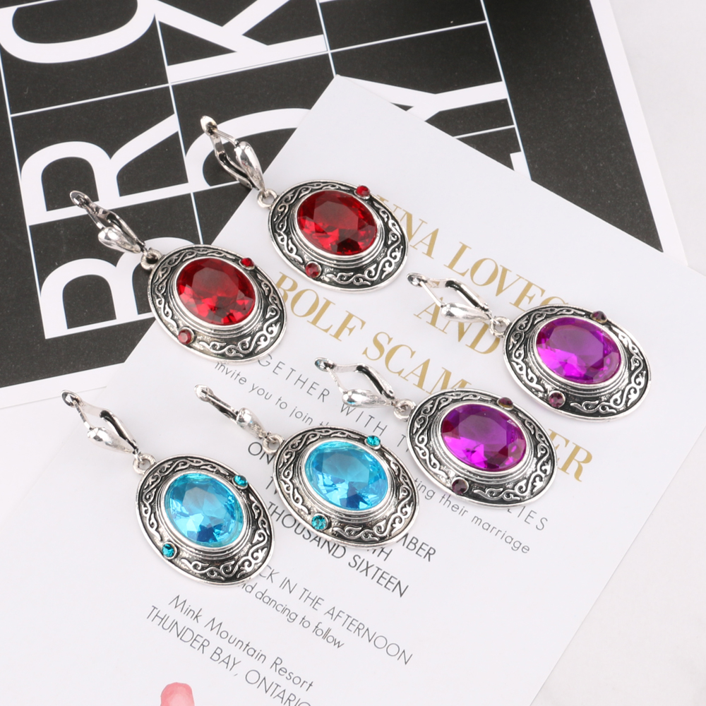 HTB1k32bSpXXXXcjaXXXq6xXFXXXn - Kinel 4Pcs Women Vintage Jewellery Sets Antique Silver Color Retro Pattern Fashion Blue Oval Ring Wedding Jewelry Crystal Gift