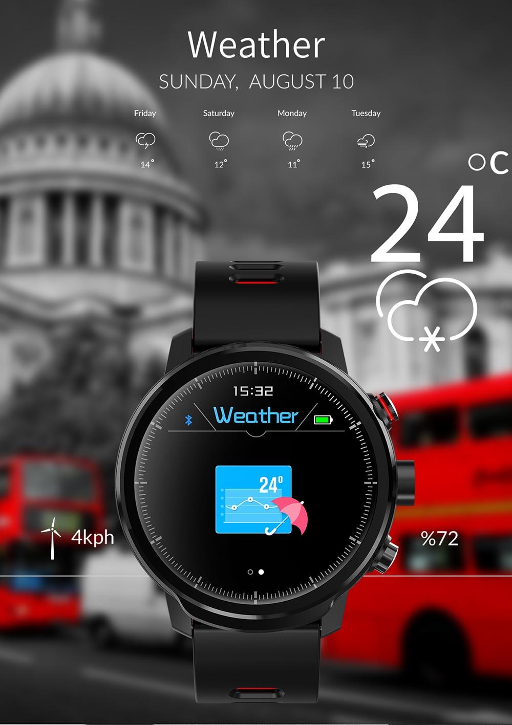 Wristwatch - L5 Smart Bracelet Fitness Tracker Smart Watch Waterproof IP68 Men Smart Watch Bluetooth IOS Android Smart Wristband