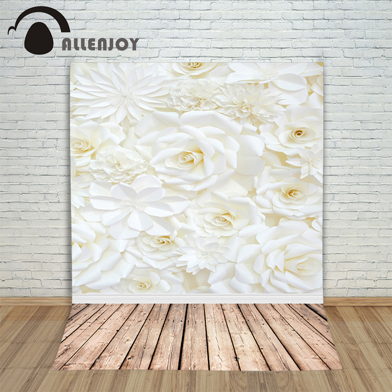 Allenjoy photographic camera background White backdrop rose wood Valentine wedding romantic photocall with backdrop for shooting 10ft 20ft romantic wedding backdrop f 894 fabric background idea wood floor digital photography backdrop for picture taking