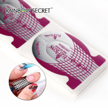 100 stks / pak Nail Form Zelfklevende Gel Voor Nail Extension UV Gel Nail Art Beauty Tool Stickers Zelfgemaakte & Professionele