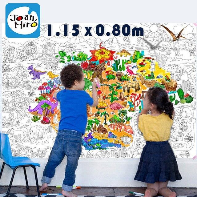 115*80 cm niño niños Super pintor Pizarras para dibujar Juguetes ...
