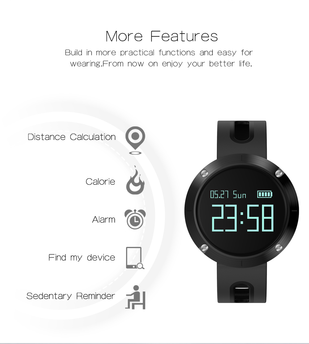 MAKIBES DM58 BLUETOOTH SPORTS HEART RATE SMART BAND WITH BLOOD PRESSURE MONITOR IP68 WATERPROOF WRISTBAND 237054 47
