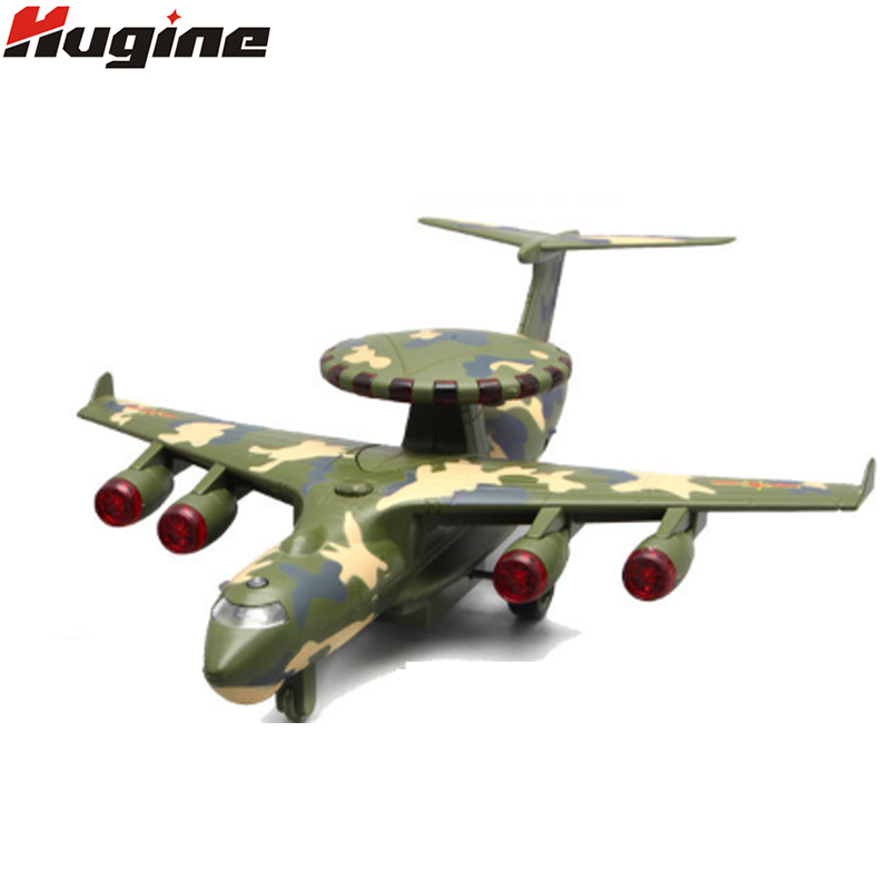 Alloy Diecast Aircraft Model 1:28 Air Police Early Warning Aircraft Alloy  Model Light Sound Back Force Children Model Toys Gifts - Air Tank