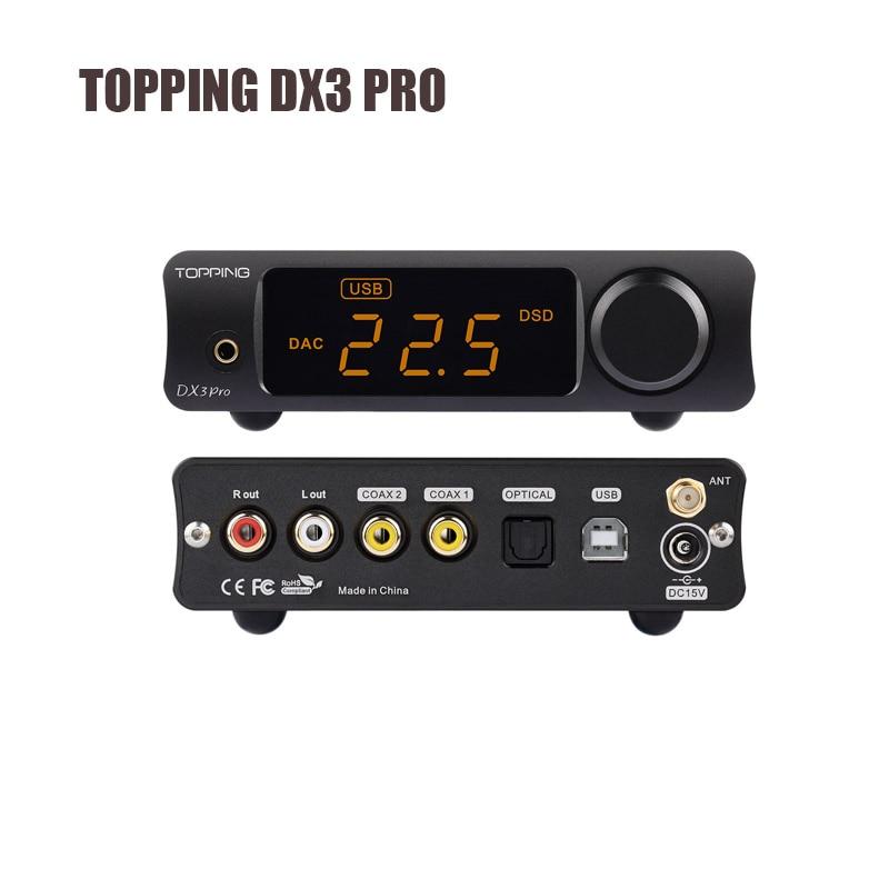 Tragbares Audio & Video Opa1612 Dsd512 Neueste Eine Hohe Bewunderung Gewinnen Dac Topping Dx3 Pro Desktop Bluetooth Atpx Usb Audio Decoder Kopfhörer Verstärker Amp Xmos Xu208 Ak4493eq