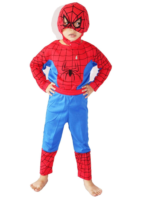 1 rok - 7 let Halloween strana Cosplay kostýmy chlapec pavouk-muž - Kostýmy