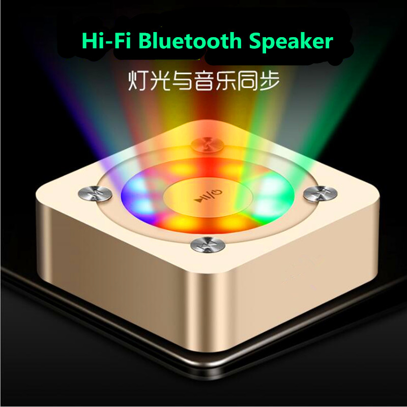 The Newest Portable Wireless Bluetooth Speaker Stereo Hi-Fi Boxes Outdoor Support TF card Super Bass Led Light Speaker