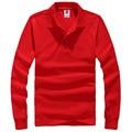 Marca Nova Camisa Polo Dos Homens Mens Moda camisas Gola Manga Comprida Casual Camisetas Masculinas Plus Size XXXL Polos Camisola