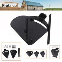 Probrico Sliding Barn Door Locks Keyless Adjustable Black Steel Door Bolts Door Handles With Screws Two