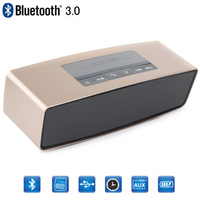 Mini Bluetooth Stereo Speaker with AUX USB FM Radio TF Music Portable Wireless Subwoofer Speaker Handsfree MIC For Phones PC