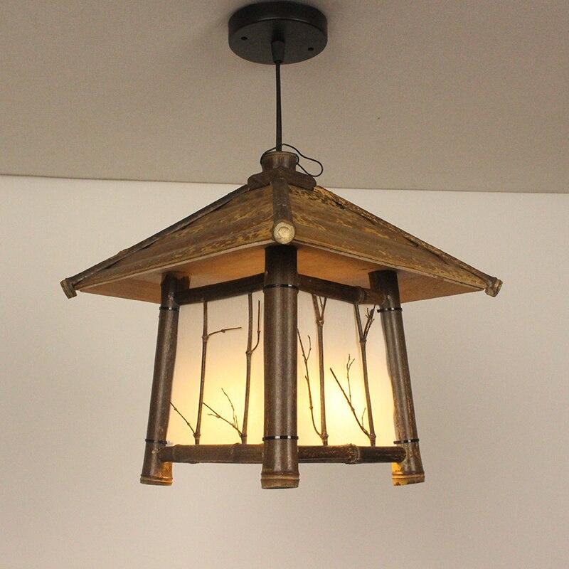 Japanski moderni privjesak od bambusa Svjetlo Washitsu Tatami Decor - Unutarnja rasvjeta - Foto 5