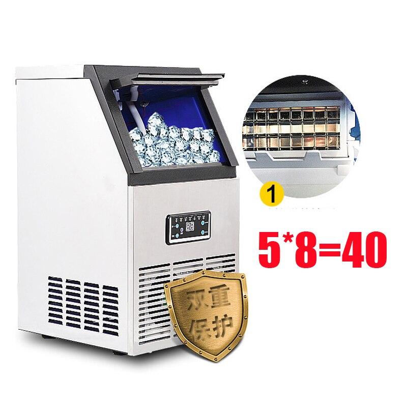 110v/220v 60KG/24H Ice Makers SK-60FF Commercial Ice Cube Making Machine For Bar,Coffee Shop,Milk Tea Room Ice Cube Maker