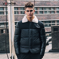 VIISHOW Winter Parka Men Jacket Long Sleeve Duck Down Jacket Mens Oversized Coat Single Breasted Warm Coat M150054
